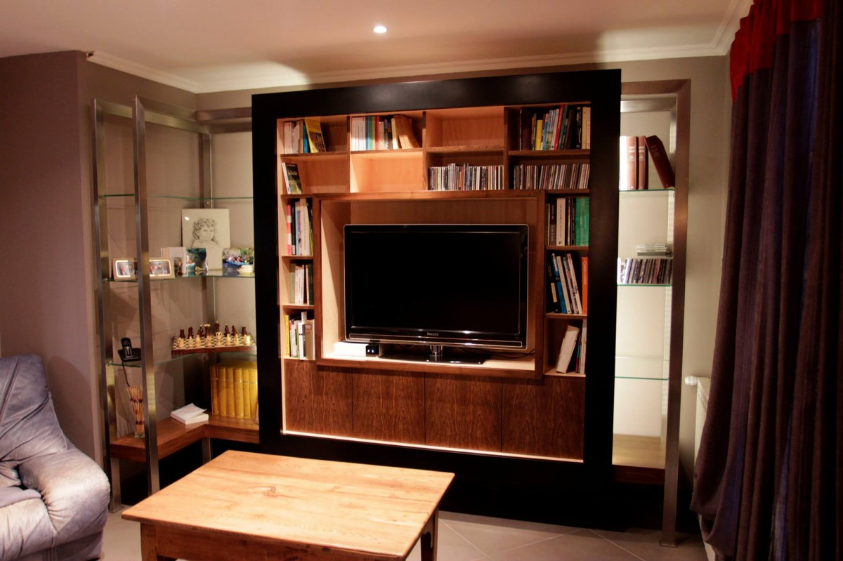 biblioth que d 39 angle atelier philippe allemand. Black Bedroom Furniture Sets. Home Design Ideas