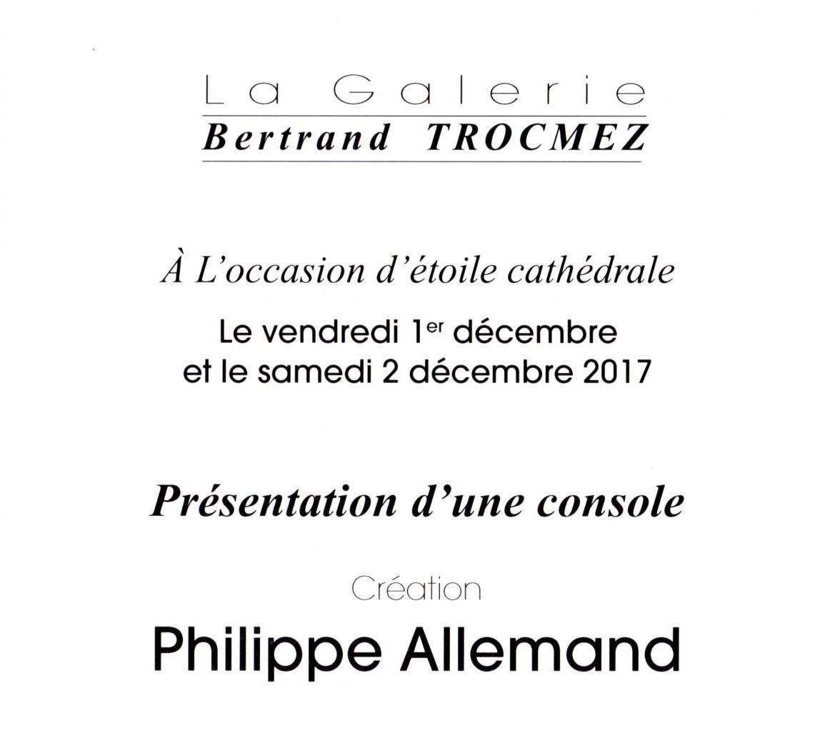 Notre console exposée à la Galerie Bertrand Trocmez
