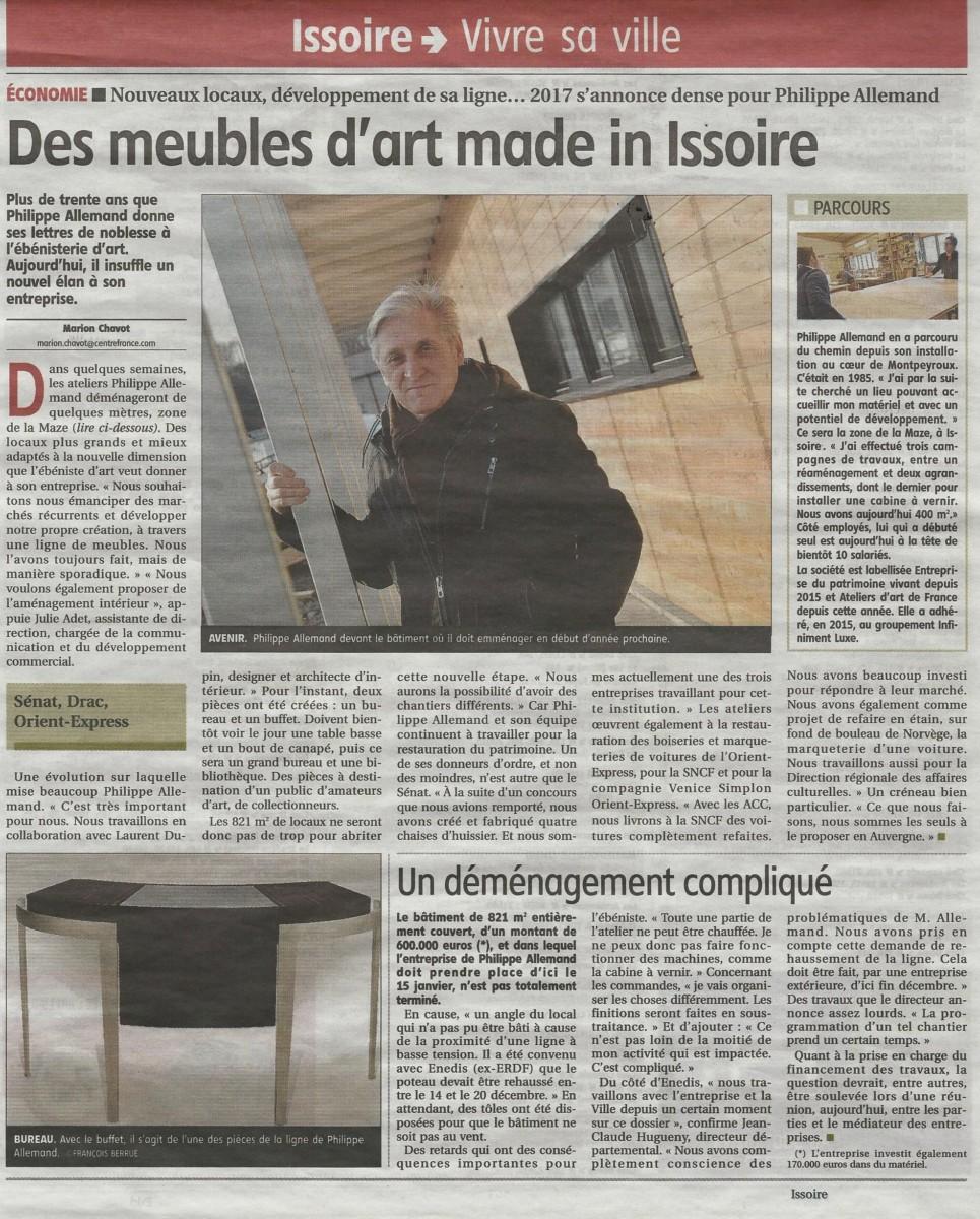 des meubles d 39 art made in issoire la montagne atelier philippe allemand. Black Bedroom Furniture Sets. Home Design Ideas