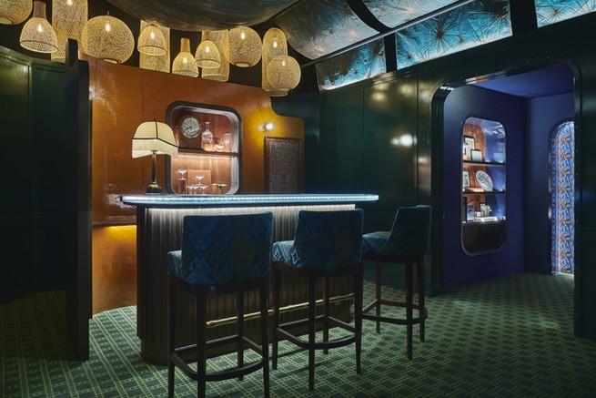 Le wagon-bar pour Orient-Express de l'Atelier Tristan Auer / Wilson Associates